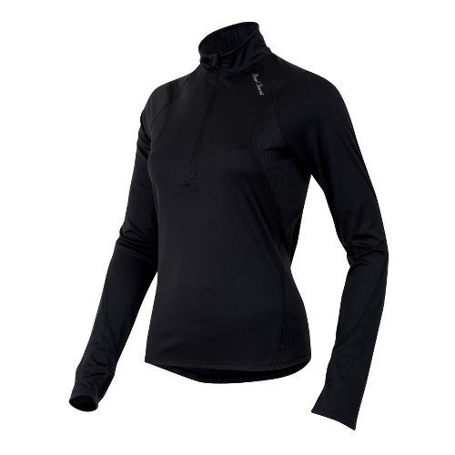 Womens Pearl Izumi Fly Long Sleeve No Zip Technical Tops - Black M