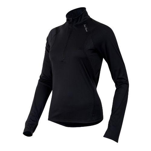 Womens Pearl Izumi Fly Long Sleeve No Zip Technical Tops - Black XS