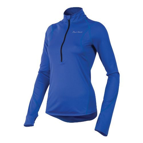 Womens Pearl Izumi Fly Long Sleeve No Zip Technical Tops - Dazzling Blue L