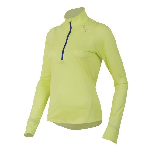 Womens Pearl Izumi Fly Long Sleeve No Zip Technical Tops - Sunny Lime M