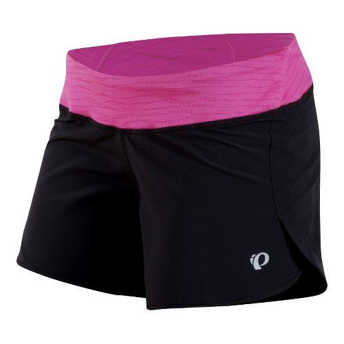 Womens Pearl Izumi Fly Shorts - Black/Raspberry Rose XL