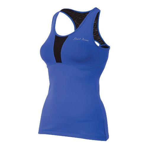 Womens Pearl Izumi Fly Tank Sport Top Bras - Dazzling Blue L