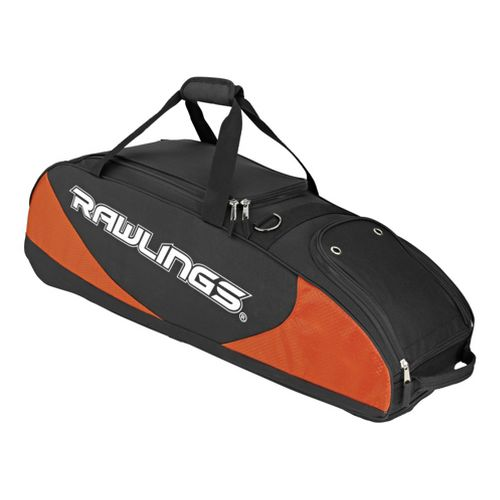 Rawlings Bat Bag Wheeled Bags - Black/Orange