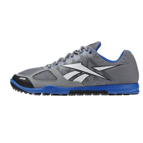 Mens Reebok CrossFit Nano 2.0 Cross Training Shoe - Grey/Blue 9.5