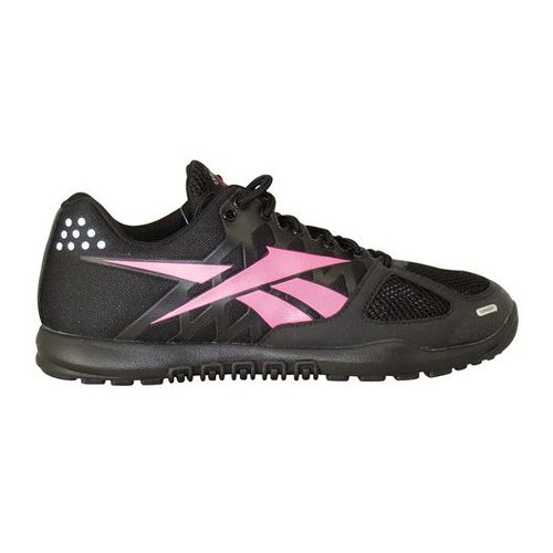 Womens Reebok CrossFit Nano 2.0 Cross Training Shoe - Black/Pink 7.5