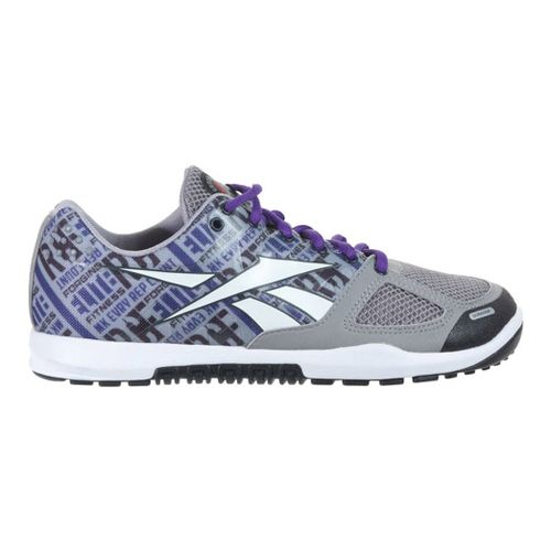 Womens Reebok CrossFit Nano 2.0 Cross Training Shoe - Grey/Purple 10.5