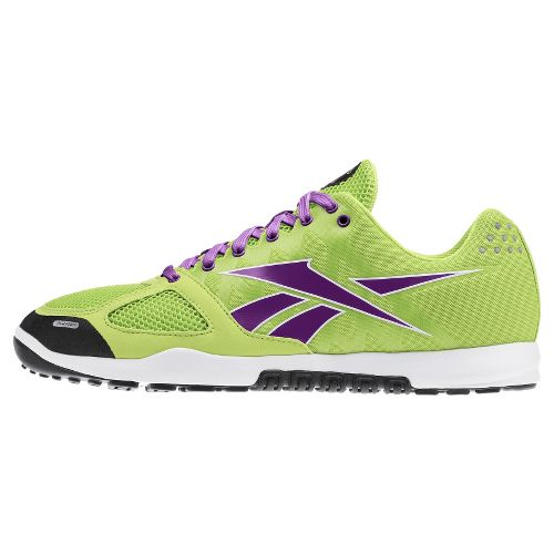 Womens Reebok CrossFit Nano 2.0 Cross Training Shoe - Lime/Purple 8.5