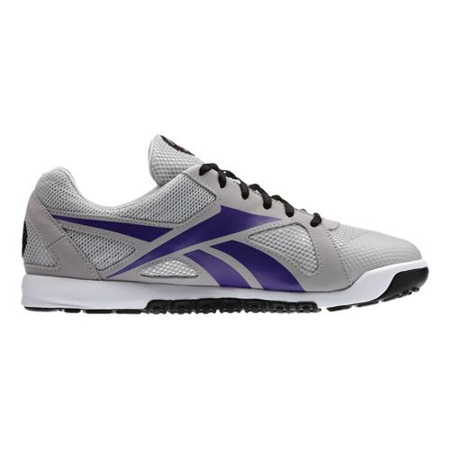 Mens Reebok CrossFit Nano U-Form Cross Training Shoe - Steel/Purple 8.5