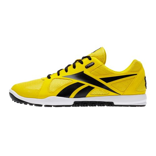 Mens Reebok CrossFit Nano U-Form Cross Training Shoe - Yellow/Black 8.5