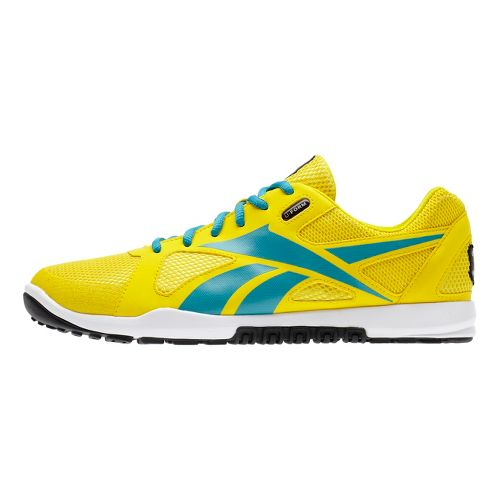 Womens Reebok CrossFit Nano U-Form Cross Training Shoe - Yellow/Blue 7.5