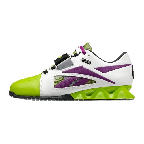 Womens Reebok CrossFit Lifter Cross Training Shoe - White/Lime 9.5