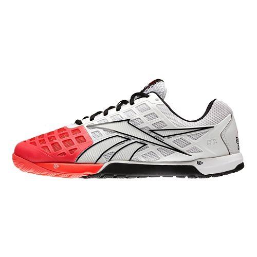 Mens Reebok CrossFit Nano 3.0 Cross Training Shoe - White/Cherry 12