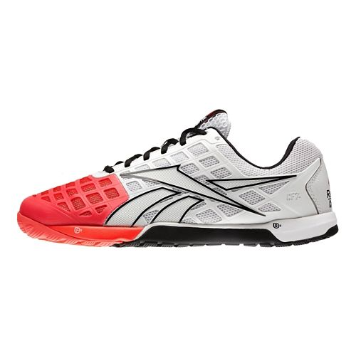 Mens Reebok CrossFit Nano 3.0 Cross Training Shoe - White/Cherry 8.5