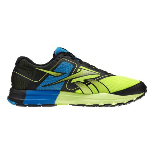Mens Reebok ONE Cushion Running Shoe - Black/Neon 11.5