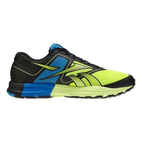 Mens Reebok ONE Cushion Running Shoe - Black/Neon 9.5