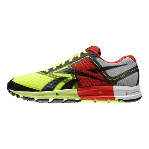 Mens Reebok ONE Cushion Running Shoe - Neon/Red 9.5