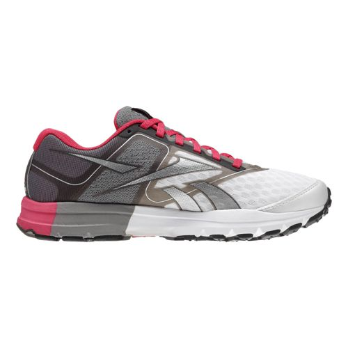 Womens Reebok ONE Cushion Running Shoe - Grey/Pink 8.5