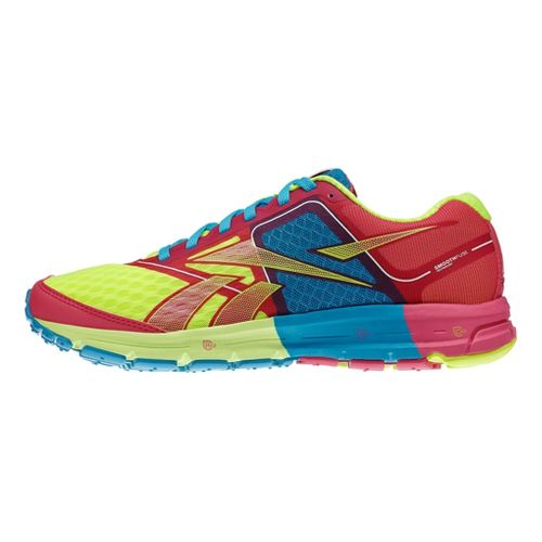 Womens Reebok ONE Cushion Running Shoe - Pink/Neon 7.5