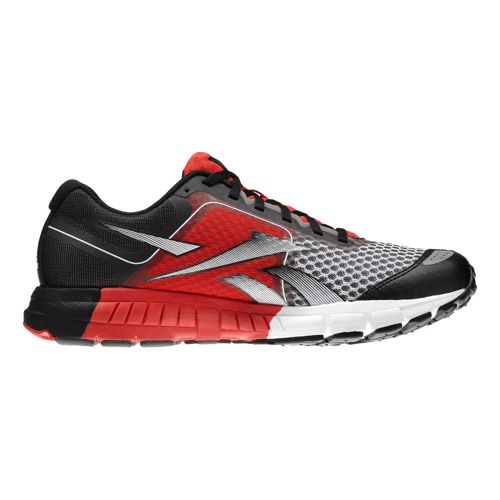 Mens Reebok ONE Guide Running Shoe - Grey/Red 8.5