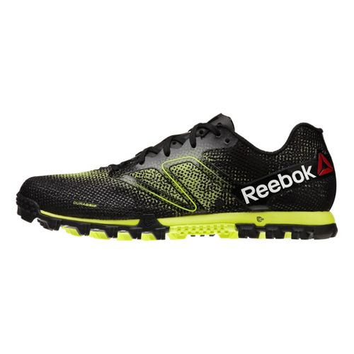 Mens Reebok All Terrain Super Running Shoe - Black/Neon 11.5