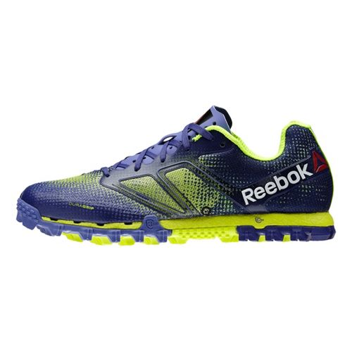 Womens Reebok All Terrain Super Running Shoe - Purple/Neon 7.5