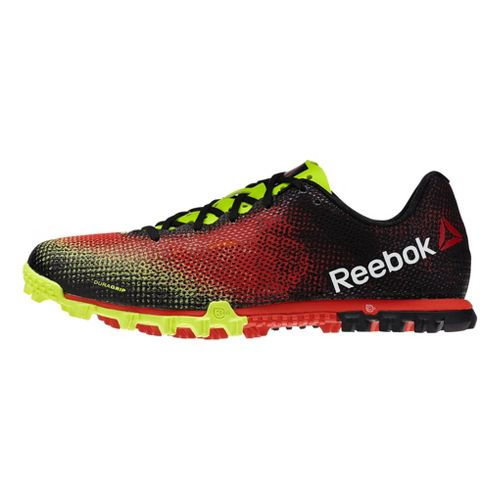 Mens Reebok All Terrain Sprint Running Shoe - Black/Red 10.5