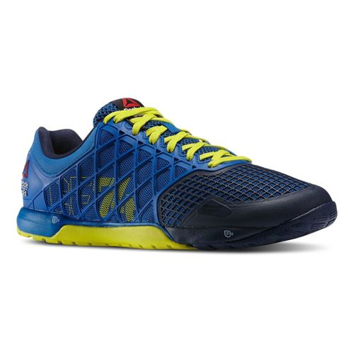 Mens Reebok CrossFit Nano 4.0 Cross Training Shoe - Blue/Green 12.5