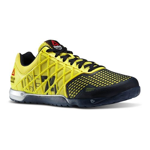 Mens Reebok CrossFit Nano 4.0 Cross Training Shoe - Yellow 9.5