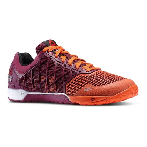 Womens Reebok CrossFit Nano 4.0 Cross Training Shoe - Berry/Orange 8.5