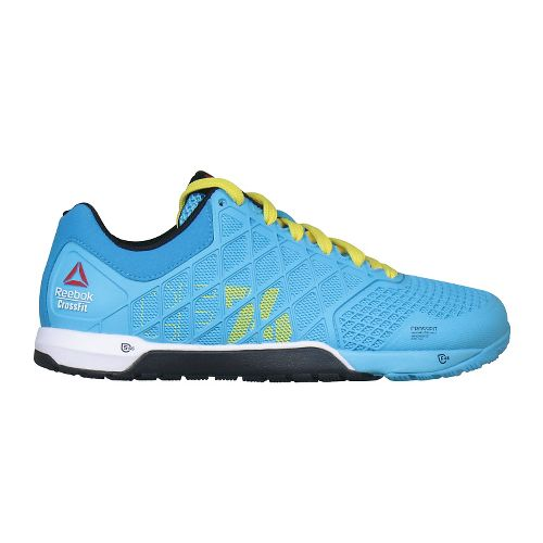 Womens Reebok CrossFit Nano 4.0 Cross Training Shoe - Blue/Yellow 7.5