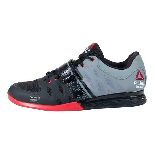 Mens Reebok CrossFit Lifter 2.0 Cross Training Shoe - Black/Grey 10.5