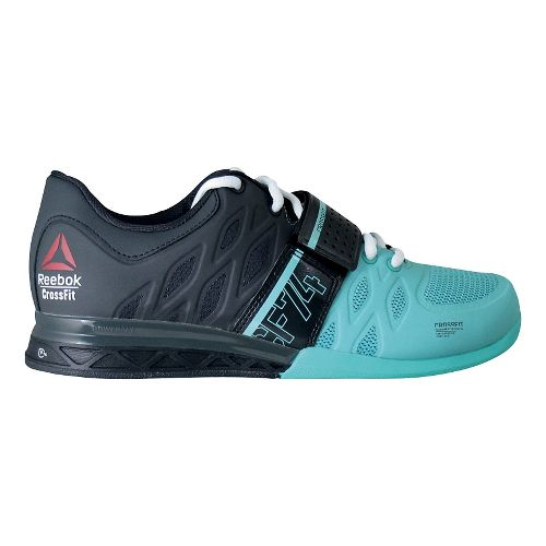 Womens Reebok CrossFit Lifter 2.0 Cross Training Shoe - Black/Teal 7.5