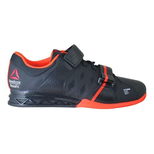 Mens Reebok CrossFit Lifter Plus 2.0 Cross Training Shoe - Black/Orange 11.5