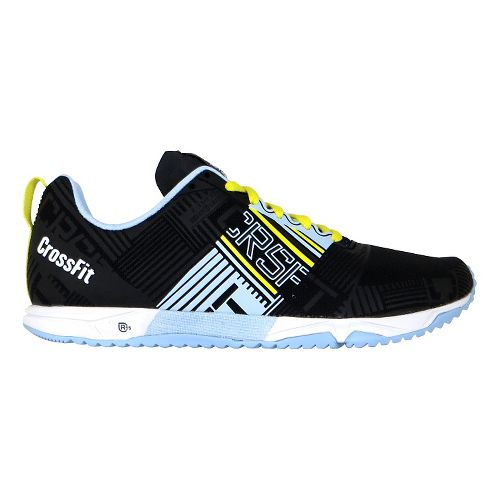 Womens Reebok CrossFit Sprint 2.0 Cross Training Shoe - Black/Blue 7.5