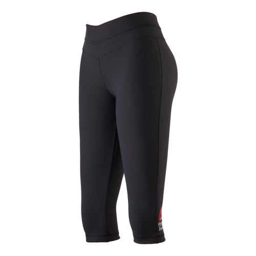 Womens Reebok CrossFit Performance Capri Tights - Black XL