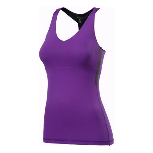Womens Reebok CrossFit Long Top Sport Top Bras - Violet L
