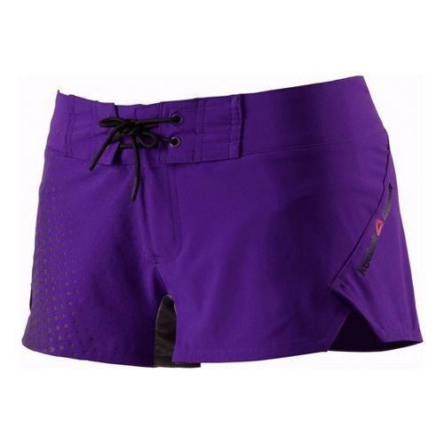 Womens Reebok CrossFit Printed Board Lined Shorts - Violet XL