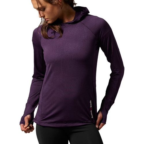 Womens Reebok CrossFit Lightweight Training Hoody Long Sleeve No Zip Technical Tops - Dark ...
