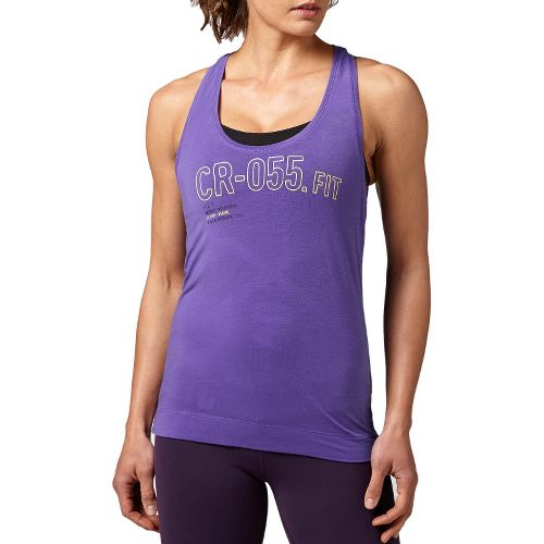 Womens Reebok CrossFit Performance Tank Technical Tops - Chalk S