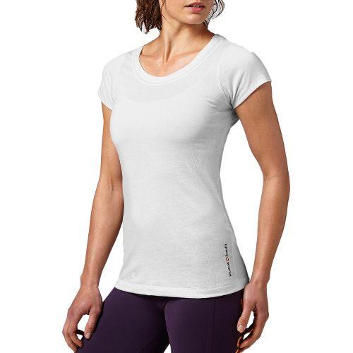 Womens Reebok CrossFit Tri-Blend Solid Short Sleeve Technical Tops - Black L