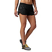 Womens Reebok CrossFit Knit Woven Boardshort Lined Shorts