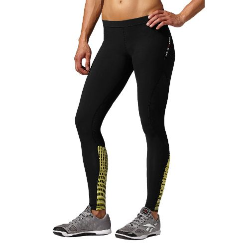Womens Reebok CrossFit Compression Fitted Tights - Black L