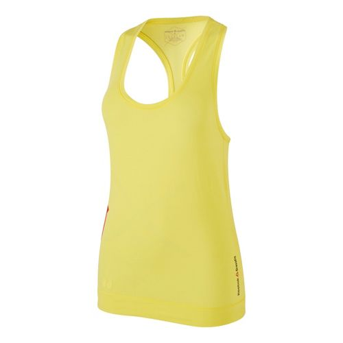 Womens Reebok CrossFit Games Burnout Tank Technical Tops - Yellow XL