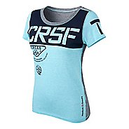 Womens Reebok CrossFit Tri-Blend Graphic Short Sleeve Technical Tops