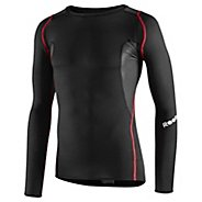Mens Reebok Men's CrossFit Light Compression Long Sleeve No Zip Technical Tops