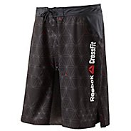 Mens Reebok Men's CrossFit Stretch Woven Board Unlined Shorts