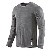 Mens Reebok Men's CrossFit Tri Blend Long Sleeve No Zip Technical Tops