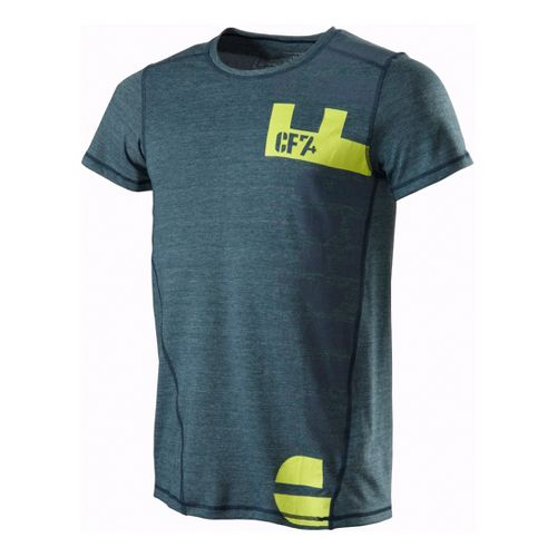 Mens Reebok CrossFit Logo Tri Blend Tee Short Sleeve Technical Tops - Midnight Blue L ...