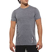 Mens Reebok CrossFit Tri Blend Solid Tee Short Sleeve Technical Tops