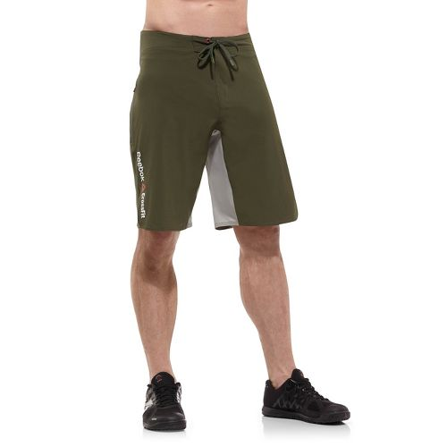 Mens Reebok CrossFit Solid Board Unlined Shorts - Olive L